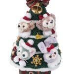 ダッフィーのクリスマスグッズ:もふもふ4人のクリスマスツリーだ~
